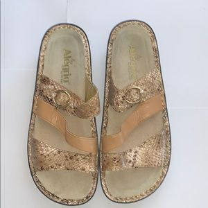 Algeria Col-758 Gold Leather Sandals
